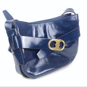 Tory Burch serif t patent leather crossbody bag